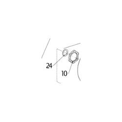 FIXATION NUT M28, CLUTCH SPROCKET