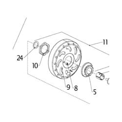 AIYES koppelingstrommel MONTAGE MET 13T SPROCKET (4)