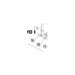 DISTANCE BUSH SET (6), SUPPORT RING - EVO I