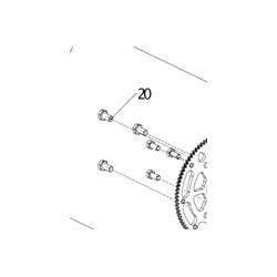 FIXING BOLT SET (6), CLUTCH HUB/STARTER RING GEAR