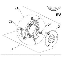 AIYES RACE CLUTCH, COMPLETE (13)