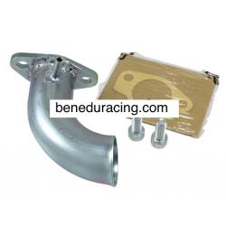 Intake manifold for slider carburetor