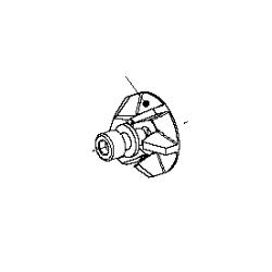 Wasserpomprad (inkl. schroeven M6x14 en onderlegring)