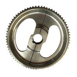 Sprocket pulley 55 teeth divided 30mm axle, 8mm timing belt