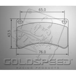 Brakepad SET GOLDSPEED 407