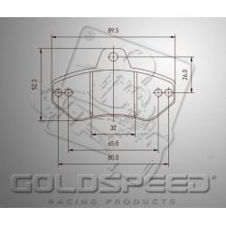 Brakepad SET GOLDSPEED 407