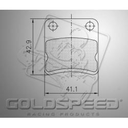 Brakepad SET GOLDSPEED 23 PAROLIN / FIRST / ENERGY FRONT