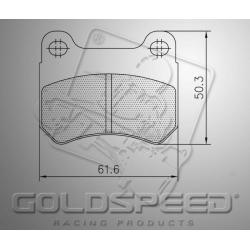 Brakepad SET GOLDSPEED 423 INTREPID FRONT 2015