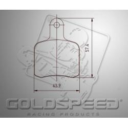 Brakepad SET GOLDSPEED 423 PAROLIN / FIRST / ENERGY FRONT