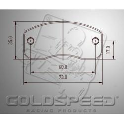 Brakepad SET GOLDSPEED 429 PRAGA OK1 REAR 2015