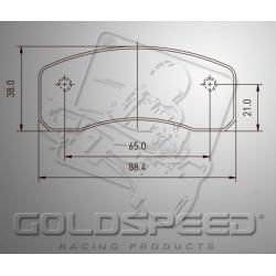 Brakepad SET GOLDSPEED 448 MS FRONT/KC hydr. cadett rear