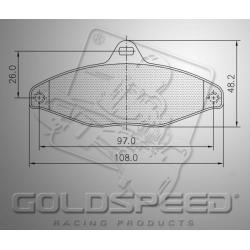 Brakepad SET GOLDSPEED 449 MS KART REAR