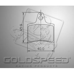 Brakepad SET GOLDSPEED 451 EA / MBA REAR