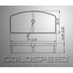 Brakepad SET GOLDSPEED 459 HAASE RUNNER FRONT