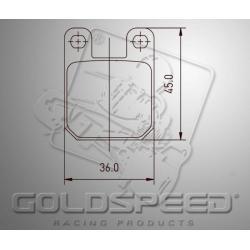Brakepad SET GOLDSPEED 474 INTR.FR.HANDBR.09/MAKY REAR