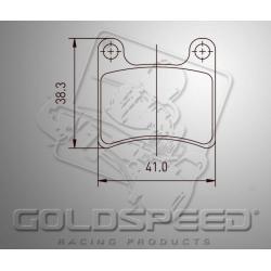 Brakepad SET GOLDSPEED 475 BREMBO FRONT