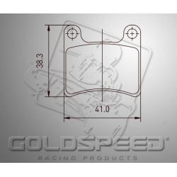Brakepad SET GOLDSPEED 475 BREMBO FRONT