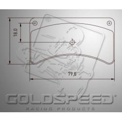 Brakepad SET GOLDSPEED 476 IPK INTREPID FRM FRONT