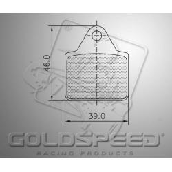 Brakepad SET GOLDSPEED 479 KELGATE 4&6 POD ADJUSTABLE REA