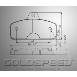 Brakepad SET GOLDSPEED 479 KELGATE 4&6 POD ADJUSTABLE REA