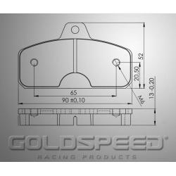 Brakepad SET GOLDSPEED 483 KK/BIREL/EKS REAR 13MM