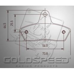 Brakepad SET GOLDSPEED 484 KOMBI/BIREL/ERPO REAR 16MM