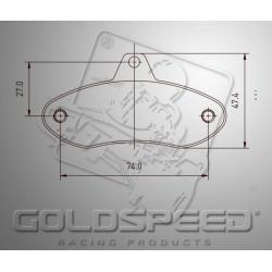 remblok SET GOLDSPEED 487 HAASE FRONT