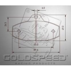 Brakepad SET GOLDSPEED 487 HAASE FRONT