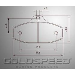 Brakepad SET GOLDSPEED 490 EA COMP./FIRST/WK REAR