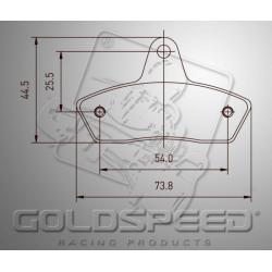 Brakepad SET GOLDSPEED 491BU SKM/EVO2/K4A BU REAR