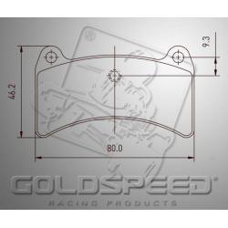 Brakepad SET GOLDSPEED 501 ENERGY CORSE/SKM REAR