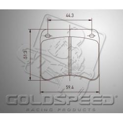 Brakepad SET GOLDSPEED 502 INTREPID EVO-8 /PRAGA/OK1 REAR
