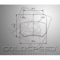 Brakepad SET GOLDSPEED 504 KC / KELGATE 13,5 mm REAR