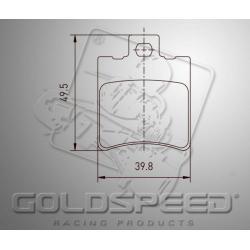Brakepad SET GOLDSPEED 505 KELGATE 4&6 POD FRONT