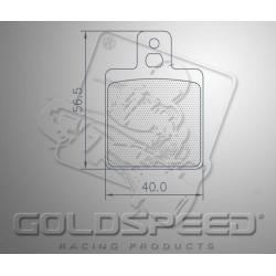 Brakepad SET GOLDSPEED 507 ENERGY CORSE/KELGATE FRONT