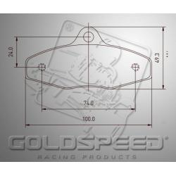Brakepad SET GOLDSPEED 509 BREMBO - SODI REAR