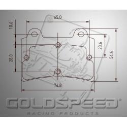 Brakepad SET GOLDSPEED 510 EA/BIREL/FIRST REAR