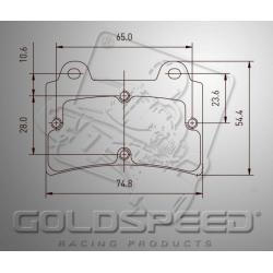 Brakepad SET GOLDSPEED 510 EA/BIREL/FIRST REAR