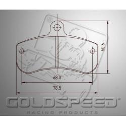 Brakepad SET GOLDSPEED 515 ARROW REAR