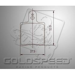 Brakepad SET GOLDSPEED 516 HAASE RUNNER REAR
