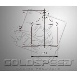Brakepad SET GOLDSPEED 522 INTREPID ID/AMV FRONT