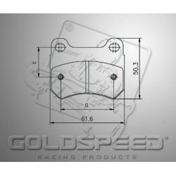 remblok SET GOLDSPEED 516 HAASE RUNNER achter