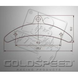 Brakepad SET GOLDSPEED 515 ARROW REAR