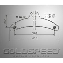 Brakepad SET GOLDSPEED 528 BIREL REAR