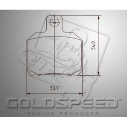 Brakepad SET GOLDSPEED 528 BIREL REAR