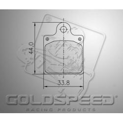 Brakepad SET GOLDSPEED 536 INTREPID EVO 3 REAR