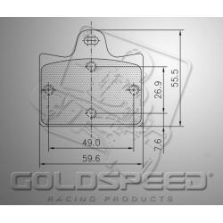 Brakepad SET GOLDSPEED 530 CRG REAR