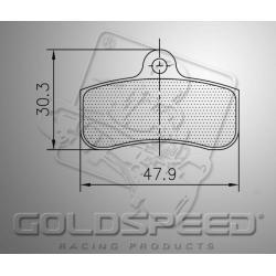 Brakepad SET GOLDSPEED 540 PCR FRONT