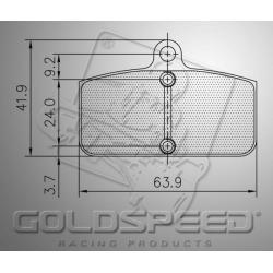 Brakepad SET GOLDSPEED542 SODI FRONT