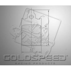 Brakepad SET GOLDSPEED 543 SODI rear
